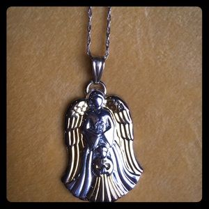 Jewelry - Gotham Guardian Angel Pendant Necklace
